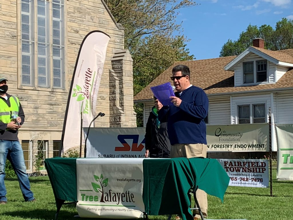 Lafayette Mayor Tony Roswarski proclaims Arbor Day 2021